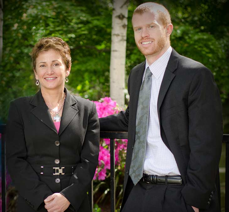 Jill Telfer and Patrick Crowl